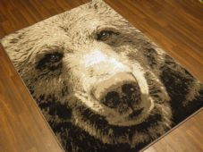 Modern Approx 6x4ft 120x170cm Woven Backed Bear Face Rugs Top Quality Grey